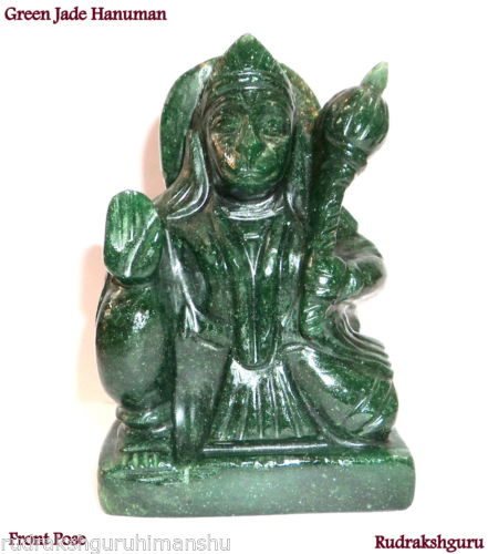 Lord Hanuman In Natural Green Jade