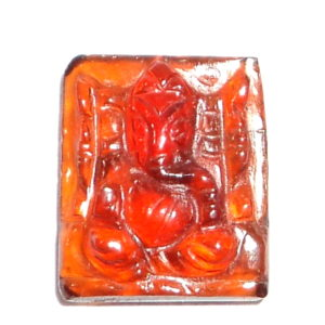 Lord Ganesha In Natural Hessonite