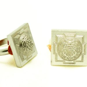 Shree Yantra Ring in Pure Silver With Rhodium Plating
