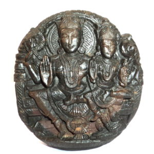 Lakshmi Narayana Murti Carved on Sudarshan Shaligram