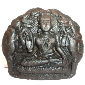Gaja Lakshmi Murti Carved on Sudarshan Shaligram