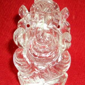 Lord Ganesha idol In Pure Sphatik - Lab Certified