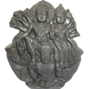 Garuda Narayana Murti Carved on Sudarshan Shaligram