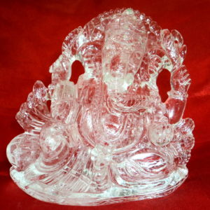 Lord Ganesha In Pure Quartz Crystal - Lab Certified