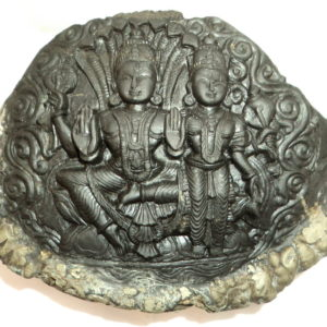 Laxmi Narayan / Narayan Idols Carved On Natural Shaligrams